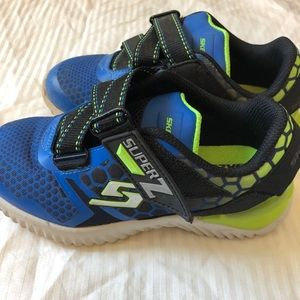 Boys Blue and Lime Skechers Sneakers